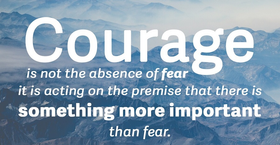 #5daysto40 – COURAGE